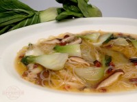 Bok Choy, Ginger and Shiitake Mushroom Soup
