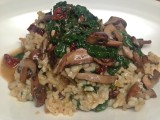 Risotto with Wild Mushrooms and Spinach