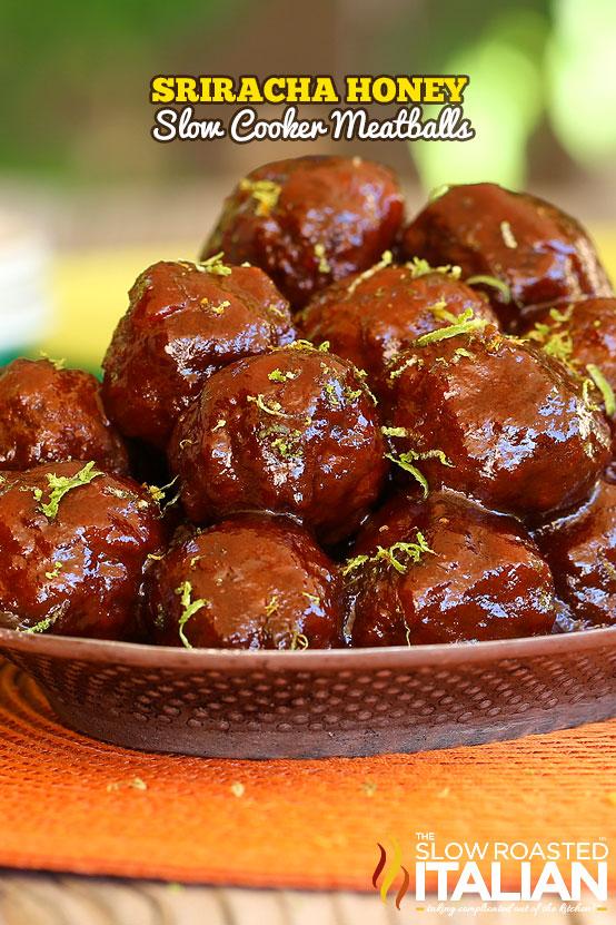 Sriracha-Honey-Slow-Cooker-Meatballs